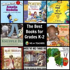 The Best Books for Grades K-2 chosen by teachers.