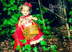 The cutest red riding hood costume EVER.  Toddler DIY costume