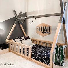 Diy Toddler Bed, Boy Toddler Bedroom, Toddler Rooms, Baby Boy Rooms, Kids Bedroom, Toddler Floor Bed, Toddler Beds For Boys, Child Room, Girl Rooms