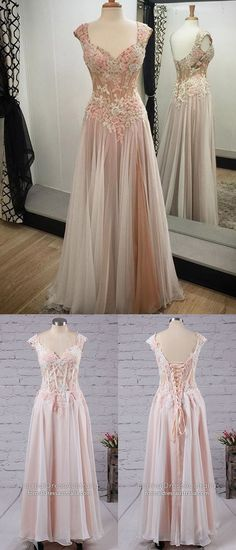Long Prom Dresses Pink,Modest Formal Evening Dresses A-line,Sexy Lace Military Ball Dresses V-neck,Tulle Wedding Party Dresses with Cap Sleeves Modest Formal Dresses, Sparkly Prom Dresses, Simple Prom Dress, Formal Dresses For Teens, Unique Prom Dresses, Prom Dresses 2018, Designer Prom Dresses, Beautiful Prom Dresses, Prom Dresses Online