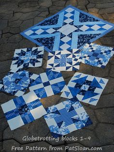 Pat Sloan: Globetrotting my FREE Block of the month - Block 9 ... : free quilt block of the month - Adamdwight.com