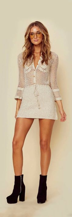 Crochet minidress