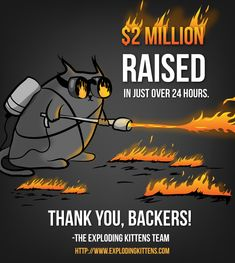 Exploding Kittens is raising funds for Exploding Kittens on Kickstarter! This is a card game for people who are into kittens and explosions and laser beams and sometimes goats. Exploding Kittens, Reading Rainbow, Card Games, Oatmeal, 29 Days, Aliens, Tuesday, Goal, Christmas Gifts