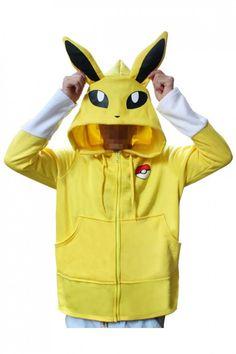 7053cbb3ecb7 Pokemon Go Kigurumi Jolteon Hoodie