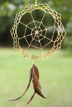Love Web 100% Cotton Floating Weave Dreamcatcher with Unakite, and Gamecock Feather Dream Catcher for Strength in Love