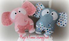 The CUTEST little elephant softies by Plushka.