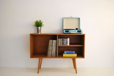 Vinyl Record Storage, Mid Century Modern Sideboard, Media Console, Record Cabine, Mid Century Furniture, Sandinavian Design, Retro by MoutinhoStore on Etsy