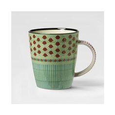 West Elm Potter's Workshop Mug, Green Dot - Gray
