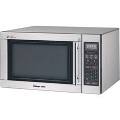 1.6 Cubic-ft 1,100-Watt Microwave with Digital Touch (Stainless Steel) - MAGIC CHEF - MCD1611ST