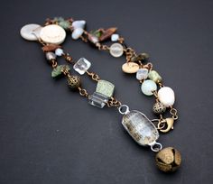 Subtle Southern Fall Necklace by CraftyHope, via Etsy.
