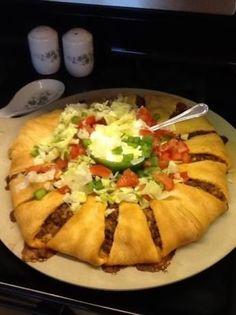 25. taco Ring - 53 bol #super aliments pour vous #aider à oublier que vous êtes #regarder le Football ! ... → Food