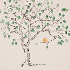Medium Cherry Blossom Design, The original hand-drawn guest book fingerprint tree (ink pads sold separately) Wedding Tree Guest Book, Guest Book Tree, Tree Wedding, Wedding Book, Rustic Wedding, Thumbprint Guest Books, Thumbprint Tree, Summer Wedding Guests, Plan My Wedding