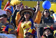 Supporters of Colombia wait for the start of the 2015 Copa America ...