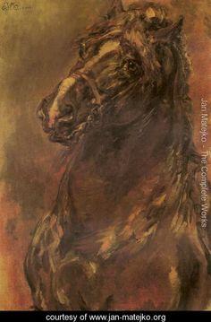 Horse Study - Jan Matejko - www.jan-matejko.org