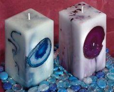 Geode Pillar Candle