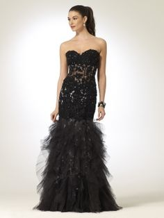Corset Gown with Tulle Skirt