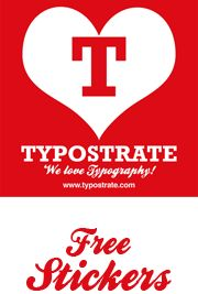 free typostrate sticker and other awesome typography stuff.