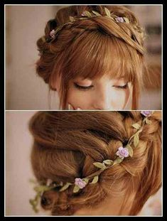 Trendy Wedding Hairstyles Updo With Braid Bridesmaid Hair Popular Haircuts Ideas Prom Hairstyles For Long Hair, Pretty Hairstyles, Girl Hairstyles, Braided Hairstyles, Wedding Hairstyles, Hairstyle Ideas, Hairstyle Braid, Hair Ideas, Bangs Updo