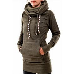 Buy Casual Women Hooded Long Sleeve Pocket Sweatshirts online with cheap prices and discover fashion Outerwear & Sweaters,Hoodies & Sweatshirts,HOODIES & SWEATSHIRTS at Loverchic.com.