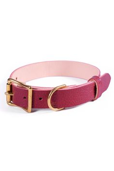 Burgundy Leather Dog Collar, Personalized Collar, FREE ID TAG, Solid Brass Hardware Fancy Dog Collars, Leather Dog Collars, Free Id, Personalized Dog Collars, Leather Apron, Cartoon Dog, Id Tag, Dog Accessories, Dog Gifts