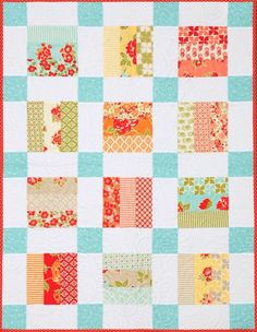(7) Name: 'Quilting : Lily Rose Baby Quilt