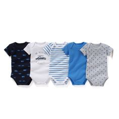 "Pack of 5 Organic Cotton Bodysuits, Birth - 3 Years R édition : price, reviews and rating, delivery. Short-sleeved bodysuits in organic cotton jersey. Sold in packs of 5: 1 palm tree print + 1 striped + 1 plain + 1 cars print + 1 with a ""car"" design printed on the front. Cutaway shoulders. Press-stud fastening between the legs.Fabric content and details: Fabric: 100% organic cottonBrand: R éditionCare advice:Machine washable at 40°C with similar colours.Wash, dry and ..."