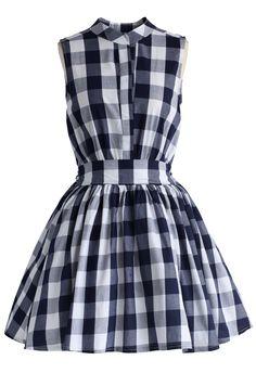 Sassy Flare Check Print Dress - New Arrivals - Retro, Indie and Unique Fashion