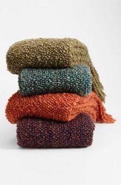 Throw blankets! (dark moss and dark teal are esp nice)