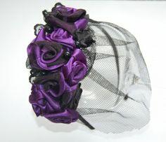 Matu rota ar violetām rozēm   Meistardarbs