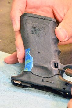How to reshape and stipple the grip on a polymer handgun to your liking, with tools you probably have right now.