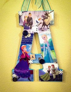 Any letter in Frozen Disney Wooden Letter Both by SpikaInteriors