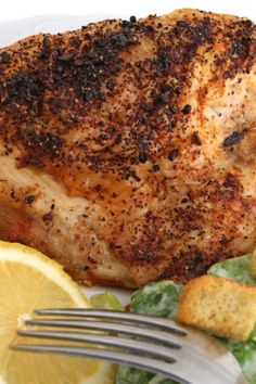 Recipe including course(s): Entrée; and ingredients: boneless, skinless chicken breast, cayenne pepper, cumin, onion powder, paprika, salt, thyme, white pepper