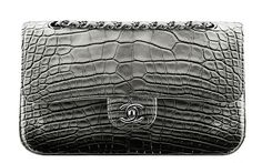 Chanel Faded Alligator Classic Flap Bag