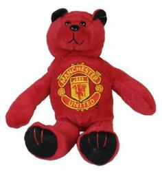 """Manchester United Fc Official Beanie Teddy Bear Rb by Manchester United Fc. $16.13. Official Manchester United FC football club merchandise. stands approximately 21cm in height (8""""). soft to touch. Red in colour with Black ears and feet. Manchester United FC club crest embroidery on his chest. The Manchester United Fc Football Club Official Beanie Teddy Bear Is Red In Colour With Black Ears And Feet And The Manchester United Fc Club Crest Embroidery On His Chest. The Ma..."""