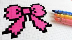 Handmade Pixel Art - How To Draw hair Tie #pixelart
