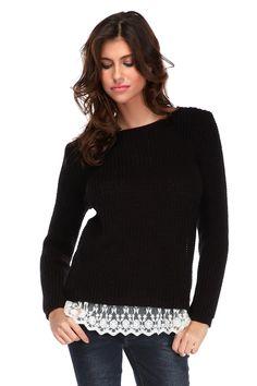 Venda Vanille & Chocolat / 31425 / Sweats, camisolas e casacos de malha / Camisola Preto