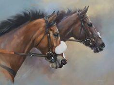 Kauto Star and Denman Beautiful Arabian Horses, Watercolor Horse, Racehorse, Animal Drawings, Drawing Animals, Equine Art, Horse Breeds, Horse Art, Horse Racing