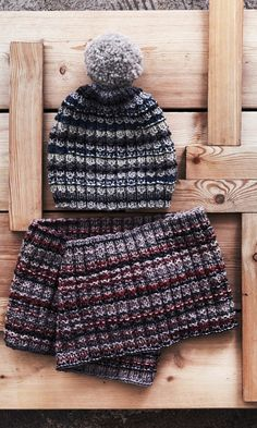 Helppo tupsupipo ja kauluri talvisävyissä   Meillä kotona Hush Hush, Handicraft, Mittens, Knitted Hats, Knit Crochet, Winter Hats, Slippers, Beanie, Socks