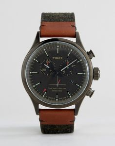 Timex Waterbury Chrono Tweed Timex Watches, Men's Watches, James Bond, Omega Watch, Tweed, Watches For Men, Asos, Accessories