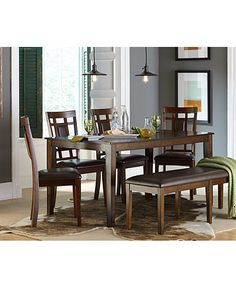 Delran 6 Piece Dining Room Furniture Set, Only At Macyu0027s, | Macys.