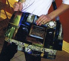 Urban Art Laptop Bag Pattern by Stephanie Brandenburg Studios From another one of her fabrics