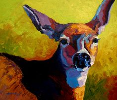 Beautiful Doe III by Marion Rose Painting Print on Wrapped Canvas by Great Big Canvas Wall Art Decor from top store Canvas Art Prints, Painting Prints, Big Canvas, Framed Prints, Painting Portraits, Painting Canvas, Canvas Size, Canvas Fabric, Deer Art