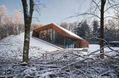 Dutch architects Denieuwegeneratie uncovered huge potential for an unusual home, funnily enough, buried into a mountainside here in a nature reserve in The Netherlands.
