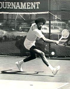 Dr. J playing Tennis
