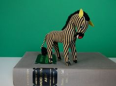 Vintage Dakin Dream Pet - Gold Zebra