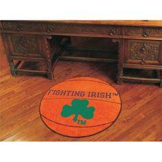 Notre Dame Fighting Irish NCAA Basketball Round Floor Mat (29) Fighting Irish Logo