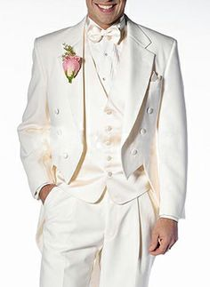 summer grooms | summer wedding suits / Attractive Beige Lapel Double Breasted Button ...