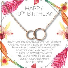 Trending Christmas Gifts For Teens Special Birthday Wishes, Happy 10th Birthday, Birthday Presents For Girls, Birthday Wishes Funny, 10th Birthday Parties, Best Birthday Gifts, Birthday Fun, Birthday Girl Quotes, Girl Birthday Themes