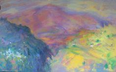 """Title: """"Vista desde Capileira""""  Technique:Pigments / Oils on linen  Date:2004  Size:110x185 cm  Price: $3,500"""