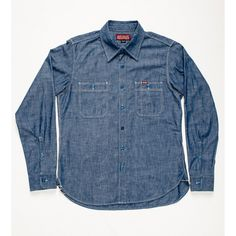 Indigo chambray workshirt Japan